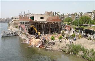 إزالة عدد كبير من التعديات على نهر النيل وبحيرة البرلس