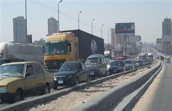 توقف حركة المرور أعلى دائري المريوطية بسبب حادث تصادم