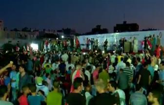 الآلاف من أبناء قطاع غزة ينظمون مهرجانًا تضامنًا مع الشعب والجيش المصرى ضد الإرهاب