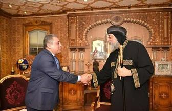 """البابا تواضروس يبحث مع  السفير المصري بـ""""تل أبيب"""" وضع دير السلطان"""