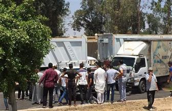 إصابة أربعة أشخاص في حادث تصادم بين سيارة نقل و10 سيارات ملاكي بطريق الإسماعيلية - القاهرة