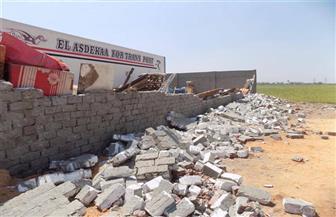 حملة لإزالة الإشغالات بمحيط مدارس أخميم في سوهاج
