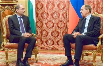 """لافروف: اتفقنا على حل القضية الفلسطينية وفق المبادرة العربية للسلام.. """"الصفدي"""": لا حل عسكري للأزمة في سوريا"""