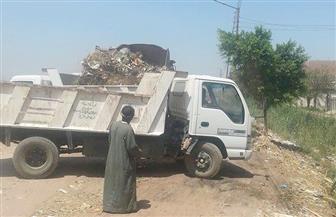 رفع 60 طن مخلفات بقرية بني قرة في القوصية | صور