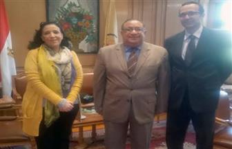 رئيس جامعة حلوان يستقبل المنسق الوطني لمنظمة العمل الدولية