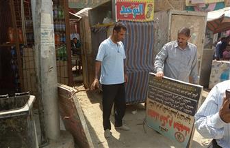 إزالة 120 لوحة إعلانية مخالفة و65 بالكمبيوتر في حملة بشوارع طامية بالفيوم|صور