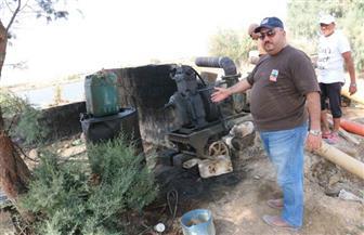 لجنة لحصر تعديات المزرعة السمكية المملوكة لرجل الأعمال المتهم بسرقة مياه الشلالات بالفيوم|صور