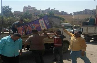 حملة لإزالة الإشغالات والتعديات بأحياء الجيزة | صور
