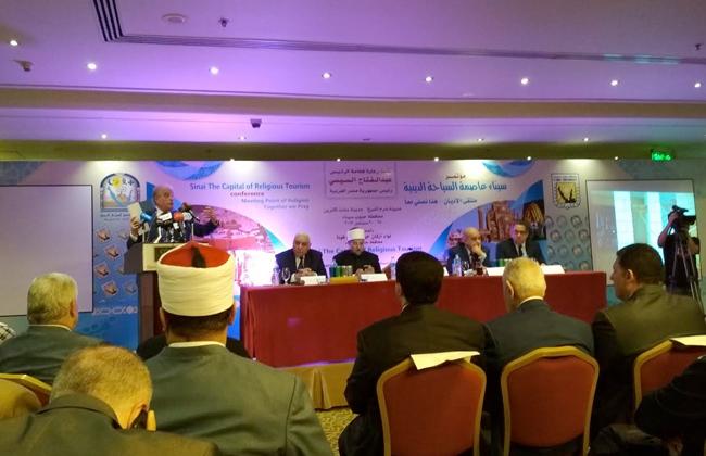 فودة يستعرض الاستعدادات النهائية لمؤتمر  سيناء عاصمة السياحة الدينية  -