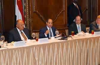 الرئيس السيسي لغرفة التجارة الأمريكية: الاقتصاد ركيزة مهمة للعلاقات الإستراتيجية بين مصر وأمريكا | صور