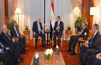 """ننشر تفاصيل لقاء الرئيس السيسي مع """"أبو مازن"""" في نيويورك"""