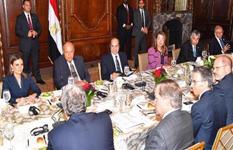 الرئيس السيسي يعرض خطط مصر الاقتصادية على مجلس الأعمال للتفاهم الدولي  صور