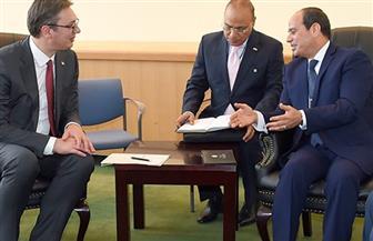 الرئيس السيسي يدعو نظيره الصربي لزيارة مصر خلال لقائهما على هامش أعمال الجمعية العامة للأمم المتحدة بنيويورك