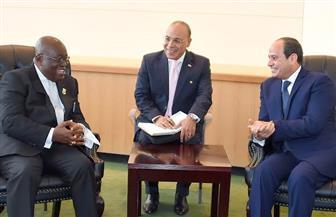 الرئيس السيسي ونظيره الغاني يلتقيان على هامش اجتماع الجمعية العامة للأمم المتحدة