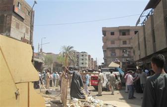 أمن بأسوان يزيل 150 حالة إشغال بالشوارع خلال 48 ساعة | صور