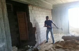 """وحدة التدخل السريع بالإسكندرية تهدم عقارًا مخالفًا بـ""""الجمرك"""""""