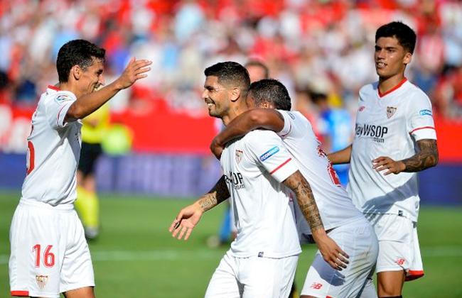 إشبيلية يهزم مالاجا بهدفين ويصعد لوصافة الدوري الإسباني