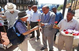 سوهاج تستقبل فوجًا سياحيًا إنجليزيًا لزيارة منطقة أبيدوس الأثرية