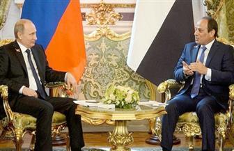الرئيس السيسي يهنئ بوتين بفوزه في الانتخابات الروسية