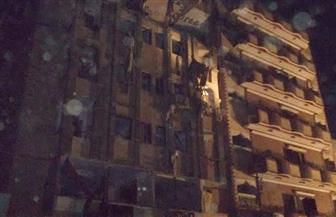 تنفيذ قرار اللجنة الهندسية وإزالة الحوائط الخطرة في البرج السكني المنفجر بالفيوم