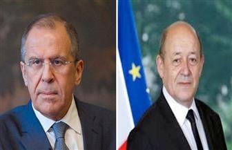 لافروف يبحث مع لودريان الشأن السوري والليبي والأوكراني غدًا في موسكو