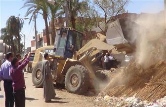 حي المرج يزيل تعديات على أملاك الدولة