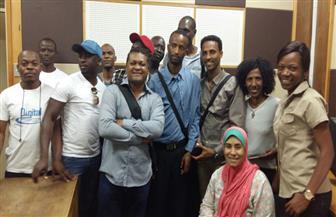 بالصور.. وفد الإعلاميين الأفارقة يزور إستديوهات الإذاعة