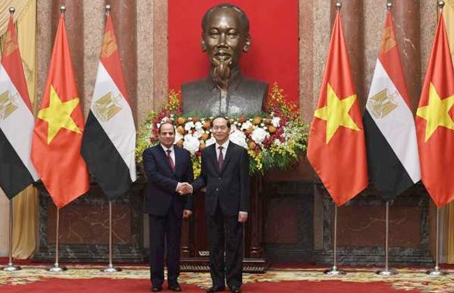 ننشر نص البيان المشترك لزيارة السيسي فيتنام -