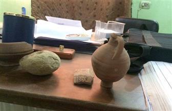 العثور على 4 قطع أثرية تعود للعصر الروماني قبل تهريبها جنوب الأقصر|صور