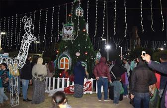 أجواء احتفالية في ليلة رأس السنة بالمنصورة | صور