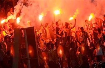 الشرطة تفرق مشجعين للترجي التونسي باستخدام الغاز المسيل