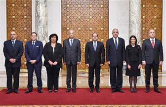 الرئيس السيسي يشهد أداء الوزراء ونواب الوزراء الجدد لليمين الدستورية | صور