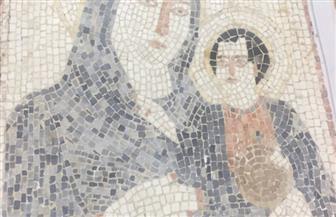 العثورعلى لوحة فسيفسائية من العصر البيزنطي في محيط بلدة عقيربات بسوريا
