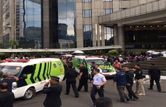 انهيار الطابق الثاني في بورصة إندونيسيا وإصابة 10 أشخاص