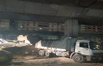 محافظ الجيزة: رفع 2400 طن مخلفات هدم بطريق ترعة المريوطية | صور