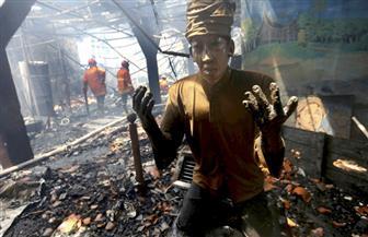 حريق في مبنى أثري يعود للقرن السابع عشر في إندونيسيا | صور