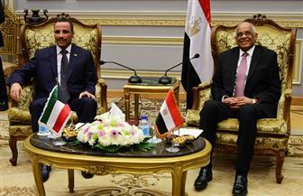 علي عبدالعال يستقبل رئيس مجلس الأمة الكويتي لبحث التعاون المشترك