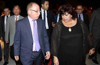 وزيرة الثقافة إيناس عبد الدايم تكرم نظيرها السابق حلمي النمنم