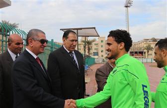 السيد نصر يحضر تدريب كفر الشيخ قبل مواجهة كوم حمادة | صور