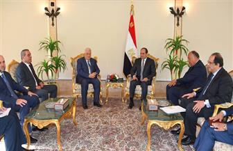أبومازن يعرب للرئيس السيسي عن تقديره لجهود مصر في دعم فلسطين وشعبها| صور