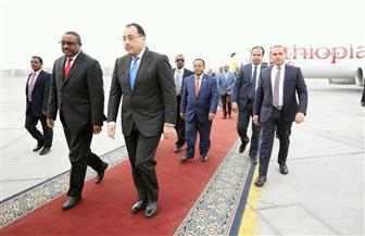 مدبولي يتوجه للمطار لاستقبال رئيس وزراء إثيوبيا