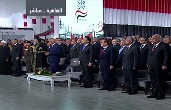 الرئيس السيسي يطالب حضور مؤتمر حكاية وطن بالوقوف تحية لمصر والمصريين