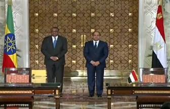 نص كلمة الرئيس السيسي في المؤتمر الصحفي مع رئيس وزراء إثيوبيا