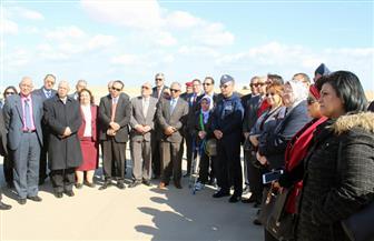 أعضاء مجلس النواب يتفقدون إحدى القواعد الجوية ومطار سفنكس الدولي