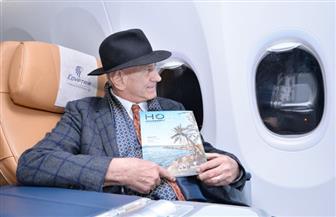 العازف العالمي جورج زامفير يصل إلى القاهرة   صور