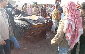 مصرع 3 أشخاص وإصابة آخر فى حادث تصادم غرب الإسكندرية   صور