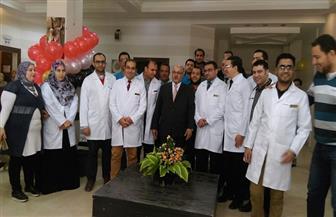 جامعة الأزهر تفتح تجديدات مركز القلب   صور