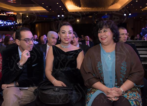 د.إيناس عبد الدايم مع الفنانة صفاء جلال