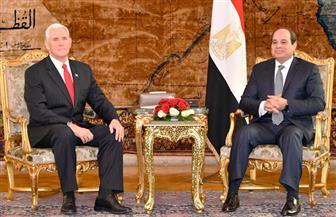 مايك بنس يسلم  الرئيس السيسي رسالة من ترامب.. ويعلن مساندة أمريكا لمصر في محاربة الإرهاب
