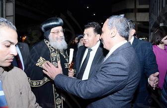 البابا تواضروس الثاني يصل إلى الأهرام في زيارة تاريخية| صور